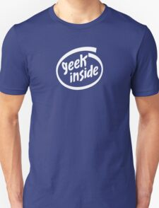 Geek Inside - White Unisex T-Shirt