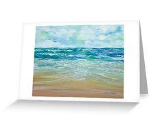 Windy Beach Greeting Card