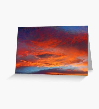 The Heavens Declare II Greeting Card