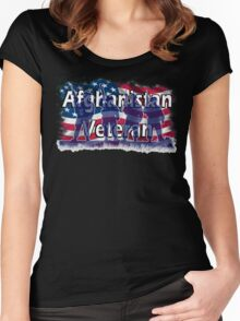 Afghanistan Veteran  Women's Fitted Scoop T-Shirt