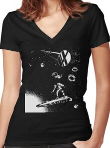 Dark Star Women's Fitted V-Neck T-Shirt
