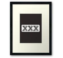 XXX Framed Print
