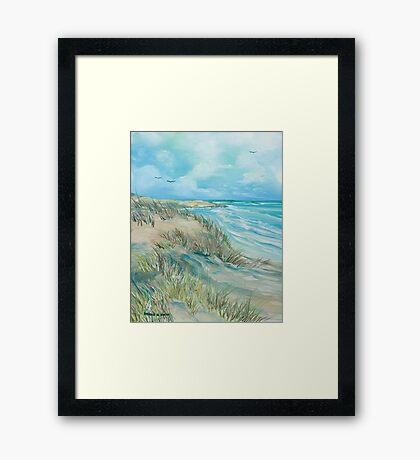 High Tide at the Dune Framed Print