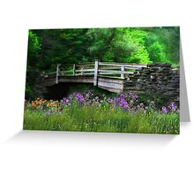 Country Bridge Greeting Card