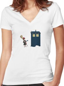 Doctor's Delivery Service Women's Fitted V-Neck T-Shirt