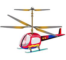 Henry the Helicopter Photographic Print