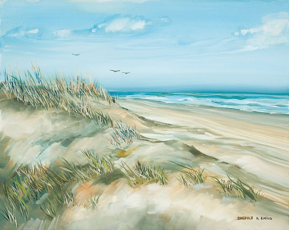 Along the Beach by Sharole Ewing