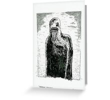 Wendigo Psychosis - original artwork Greeting Card