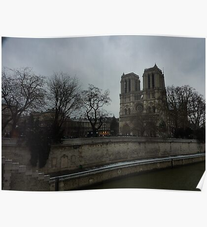 Notre Dame and the River Seine - Paris Poster