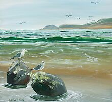 Shore Birds by Sharole Ewing