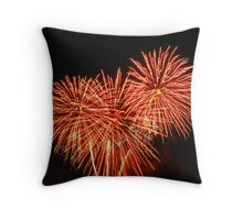 Burning flowers Throw Pillow