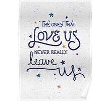 Never leave us Poster