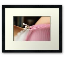 Red Between the Lines Framed Print