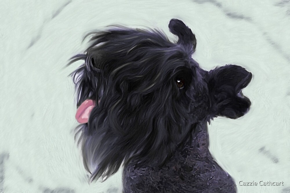 Dancer the Kerry Blue Terrier by Cazzie Cathcart