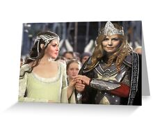 Swan Queen Lord of The Rings Greeting Card