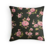 Pink Floral Throw Pillow