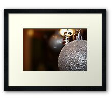 Silver Sparkles Framed Print