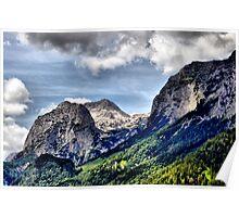 Mountain Stadelhorn at Reiter Alp. Poster