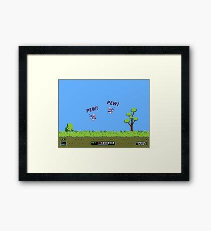 Duck Hunt! Pew! Pew! Framed Print
