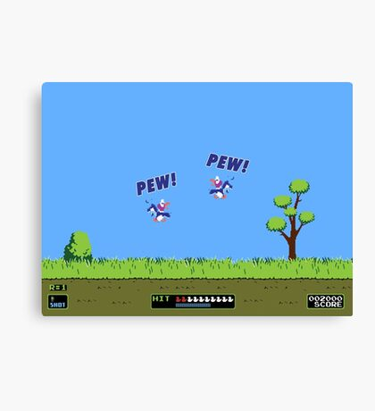 Duck Hunt! Pew! Pew! Canvas Print