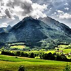 Mountain Hochkalter. Germany. by Daidalos