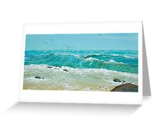 Breaking Swell Greeting Card
