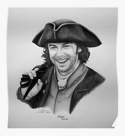 Aidan Turner as Ross Poldark - Portrait Poster