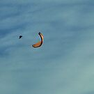 Paraglider in the Tetons #5 by JenLand