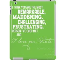 I Love You, Kate. iPad Case/Skin