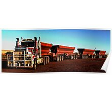 Kenworth Quad Road-Train Poster