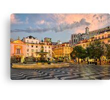 Rossio Square in Lisbon Canvas Print