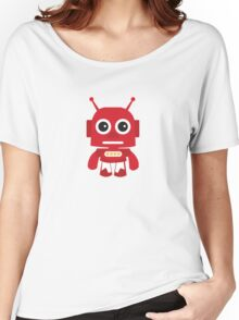 Rad Red Retro Robot Women's Relaxed Fit T-Shirt