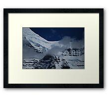 July Snow - Mt. Robson Framed Print