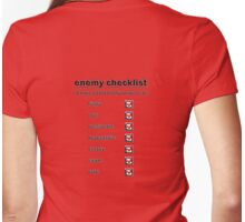 enemy checklist Womens Fitted T-Shirt