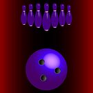 Bowling pins and ball by robertosch