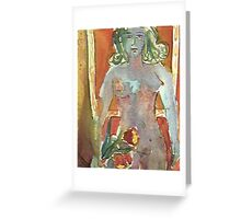 YOUNG GIRL WITH TULIPS(C2001) Greeting Card