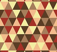 Retro geometric pattern in warm tones by miroshina