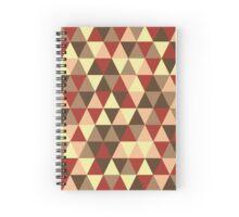 Retro geometric pattern in warm tones Spiral Notebook