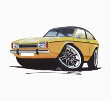 Ford Capri (Mk2) Yellow by Richard Yeomans