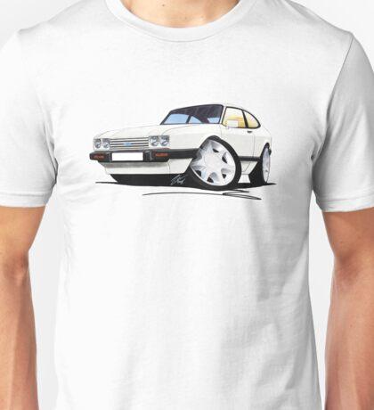 Ford Capri (Mk3) White Unisex T-Shirt