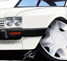 Ford Capri (Mk3) White Sticker