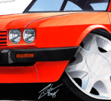 Ford Capri (Mk3) Red Sticker