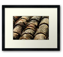 old roof tiles texture Framed Print