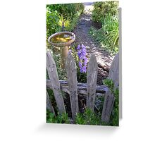peaceful place front yard Greeting Card