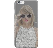 Taylor Swift Typography iPhone Case/Skin