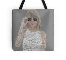 Taylor Swift Typography Tote Bag