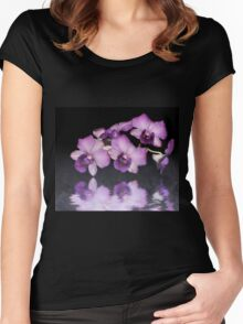 Purple Orchid Women's Fitted Scoop T-Shirt
