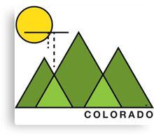 Minimal Colorado Canvas Print