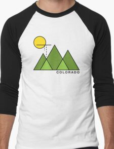 Minimal Colorado Men's Baseball ¾ T-Shirt