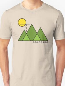 Minimal Colorado Unisex T-Shirt